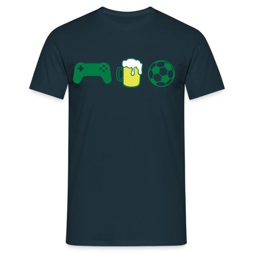 Maglietta uomo consolle-birra-calcio - Maglietta da uomo