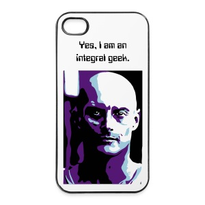 integral geek phone case blue - iPhone 4/4s Hard Case