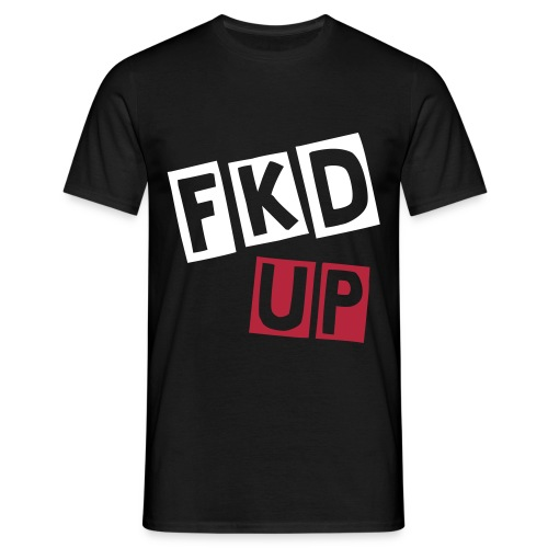 Men's Black 'Fkd Up' T-shirt by Jimmy James  - Men's T-Shirt