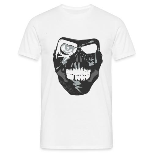 NixaTek T Mask White  - Mannen T-shirt