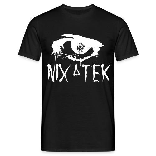 NixaTek T White Logo - Mannen T-shirt