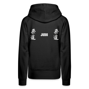 double judo jap blanc dos modifiable - Sweat-shirt à capuche Premium pour femmes