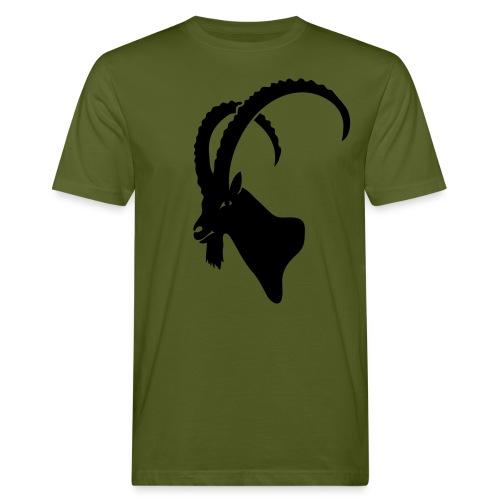 tier t-shirt steinbock alpen berge klettern ibex alps allgäu tirol bergziege - Männer Bio-T-Shirt