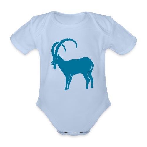 tier t-shirt steinbock alpen berge klettern ibex alps allgäu tirol bergziege - Baby Bio-Kurzarm-Body