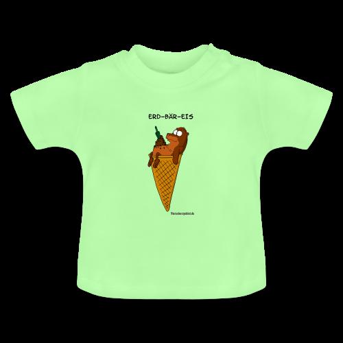 Kleinkinder Cartoon T(ier)-shirt Erd-Bär-Eis - Baby T-Shirt