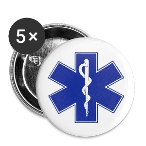 Ambulanciers, ça pique ! - Badge moyen 32 mm