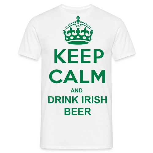 Keep Calm and Drink Irish Beer T-Shirt - Men's T-Shirt