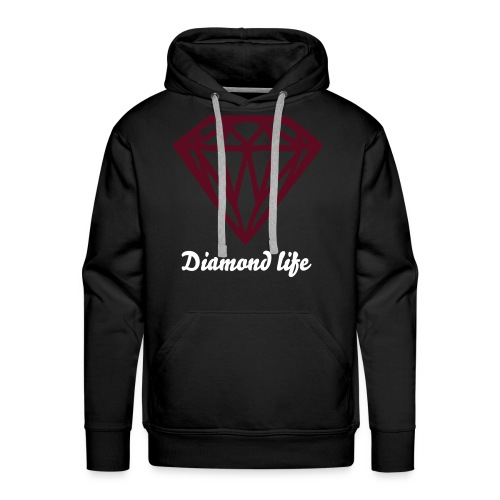 DIAMOND LIFE BORDEAUX RED - Mannen Premium hoodie