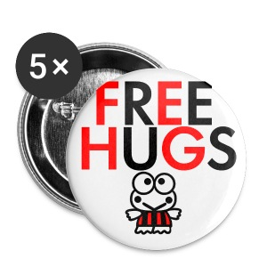 Badge Free Hugs.  - Badge grand 56 mm