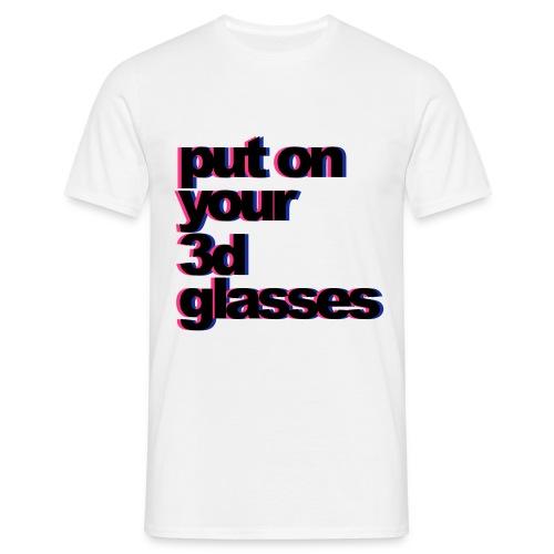 3D Glasses - Men's T-Shirt