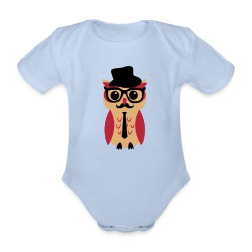 Business Owli - Baby Bio-Kurzarm-Body