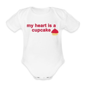 my heart is a cupcake - Baby Bio-Kurzarm-Body
