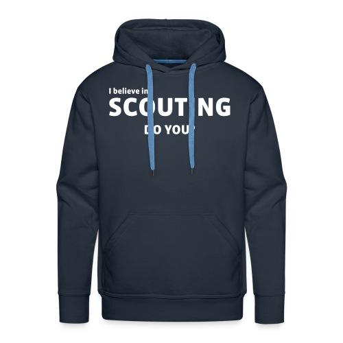 I belive in scouting - Herre Premium hættetrøje