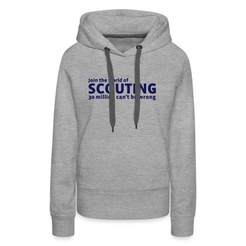 I belive in scouting - Dame Premium hættetrøje