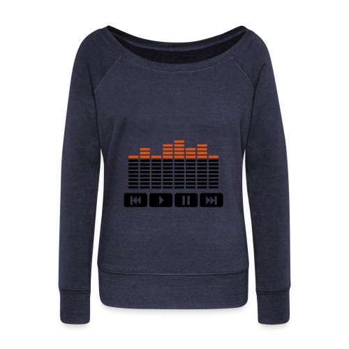 Music Levels - (Female) - Women's Boat Neck Long Sleeve Top