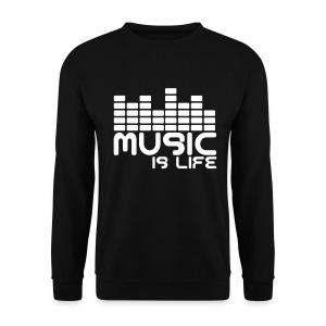 Music is my life sweatshirt - Men's Sweatshirt