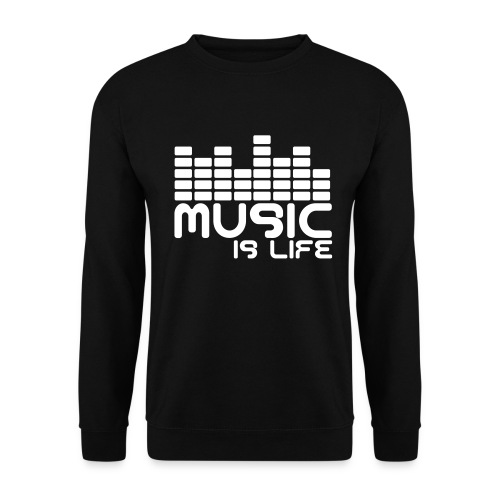 Music is my life sweatshirt - Men's Sweatshirt