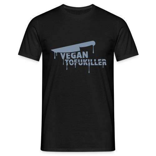 Mens 'VEGAN TOFUKILLER' SILVER - Männer T-Shirt