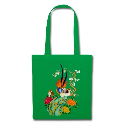 Sac en tissu oiseau et fleur - Tote Bag