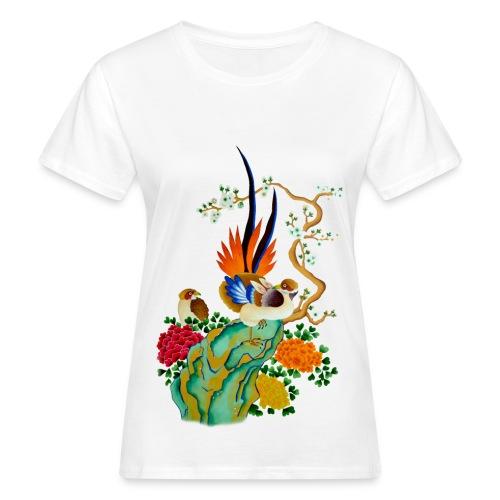 T-shirt oiseau et fleur - T-shirt bio Femme