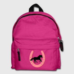Horse Shoe with galloping Horse - you can change all colours Bolsas - Mochila infantil