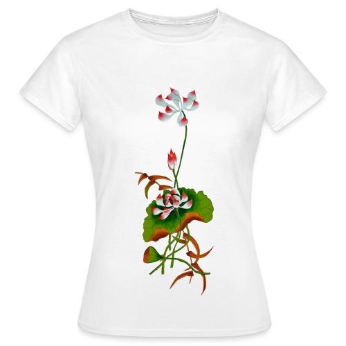 Tee shirt classique femme fleur - T-shirt Femme
