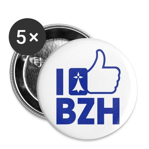 Badge I love bzh - Badge grand 56 mm