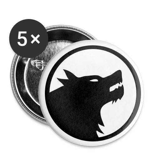 Wolf 32 mm Badge - Buttons medium 32 mm