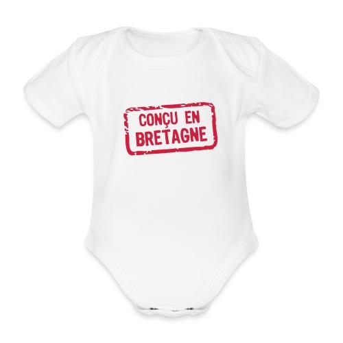 Body conçu en bretagne - Body bébé bio manches courtes