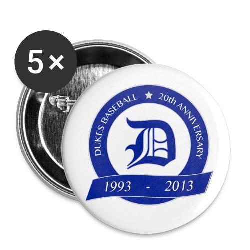20 Jahre Dukes Buttons - Buttons mittel 32 mm (5er Pack)