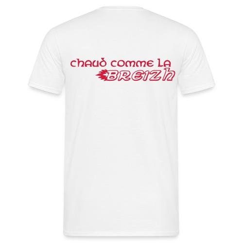 t-shirt homme chaud comme la breizh - T-shirt Homme