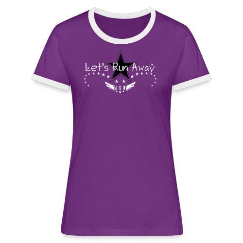 Let's run away#6.1-w - Women's Ringer T-Shirt