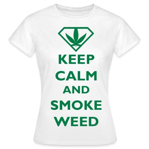SMOKE WEED FEMME BLANC - T-shirt Femme