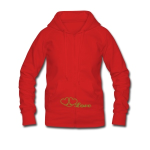 hot lips - tank top - Women's Premium Hooded Jacket