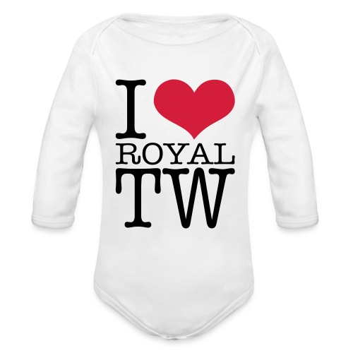 I Love Royal TW Babygro - Organic Longsleeve Baby Bodysuit