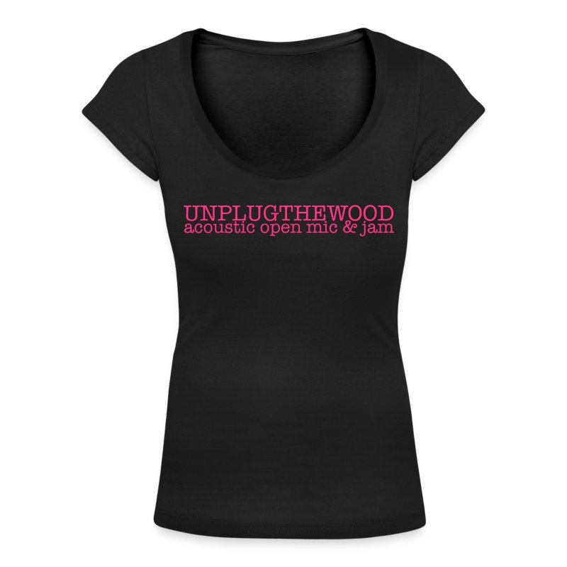 Unplug The Wood Letterbox Scoop Neck - Ladies - Women's Scoop Neck T-Shirt