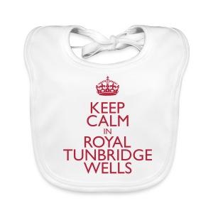 Keep Calm in Royal Tunbridge Wells - Baby Organic Bib