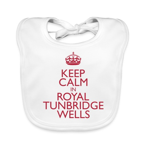 Keep Calm in Royal Tunbridge Wells - Baby Organic Bib