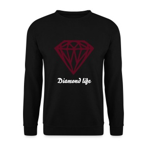 DIAMOND LIFE BORDEAUX RED - Mannen sweater