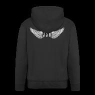 Hoodies & Sweatshirts ~ Men's Premium Hooded Jacket ~ JSH Logo #8-w