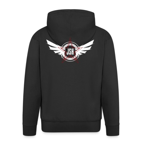 JSH Logo #10-w - Men's Premium Hooded Jacket