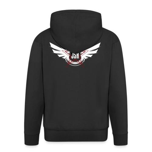 JSH Logo #10-w - Men's Premium Hooded Jacket