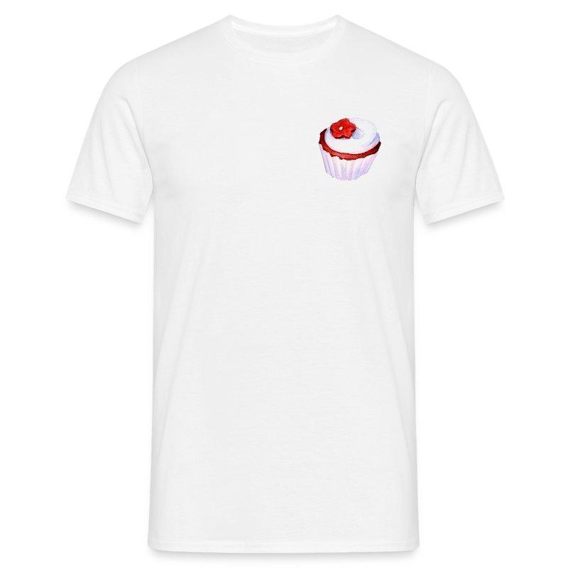 gateau violet fleur rouge  - T-shirt Homme