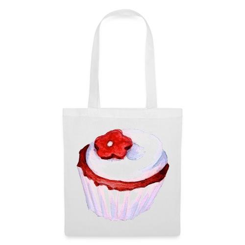 gateau violet fleur rouge  - Tote Bag