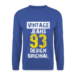 Pull homme vintage jeans design original - Sweat-shirt Homme