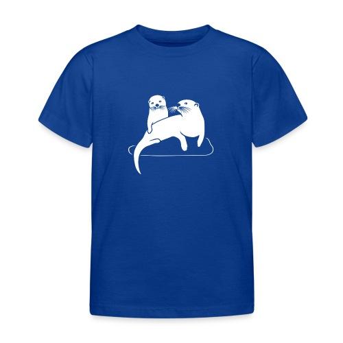 tier t-shirt otter fischotter lutra fisch biber - Kinder T-Shirt