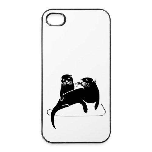 tier t-shirt otter fischotter lutra fisch biber - iPhone 4/4s Hard Case