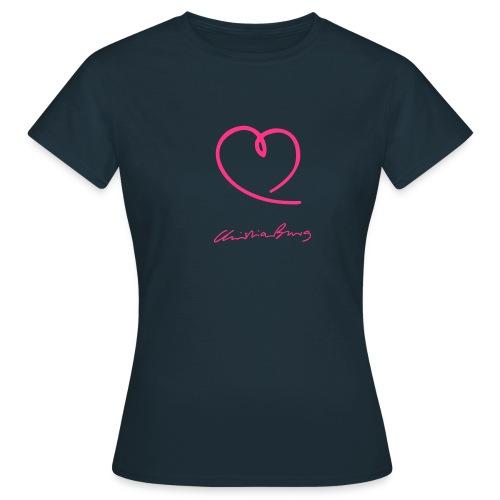 Mädels - Shirt - Herz und Autogramm - Frauen T-Shirt
