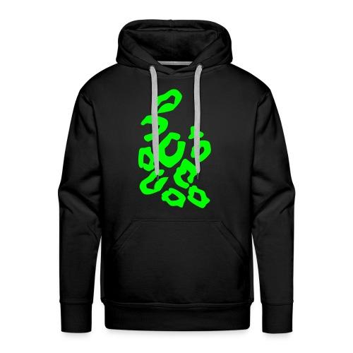 Tigerprint Green Hoody - Mannen Premium hoodie