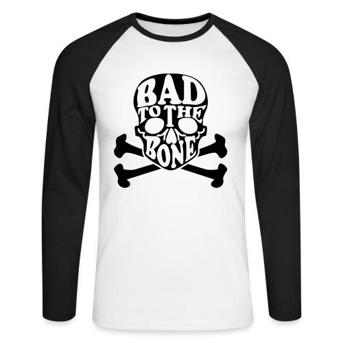 Bad to the bone - Langermet baseball-skjorte for menn